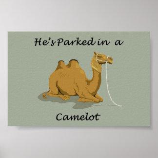 ラクダのキャメロットのユーモア ポスター