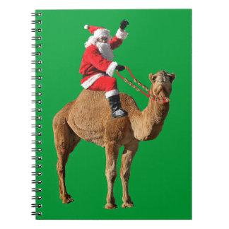 ラクダのクリスマスのサンタ ノートブック