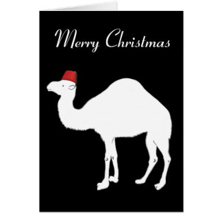 ラクダのクリスマスカード カード