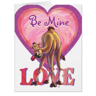 ラクダのバレンタインデー カード