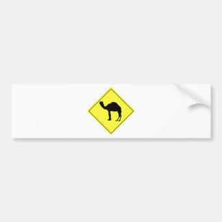 ラクダの交差の印 バンパーステッカー