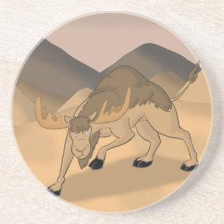 ラクダまたはアメリカヘラジカの雑種Camoose コースター