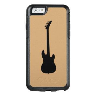 ラクダブラウンの近代音楽のブラックバスのギター オッターボックスiPhone 6/6Sケース