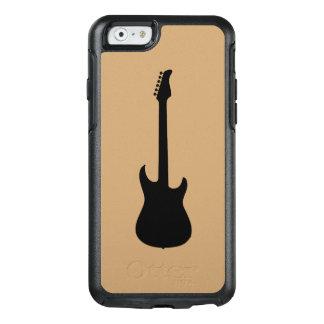 ラクダブラウンの近代音楽の黒のエレキギター オッターボックスiPhone 6/6Sケース