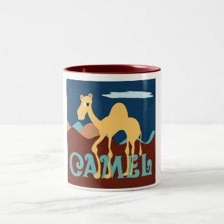 ラクダPicのコーヒーのマグ ツートーンマグカップ