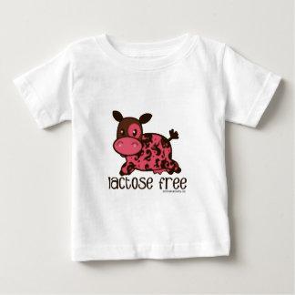 ラクトーゼの自由なピンク牛 ベビーTシャツ