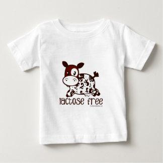 ラクトーゼの自由なブラウン牛 ベビーTシャツ