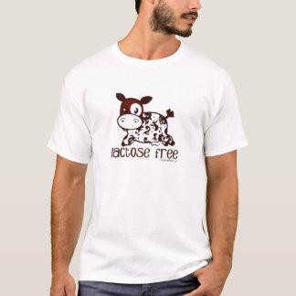 ラクトーゼの自由なブラウン牛 Tシャツ