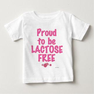 ラクトーゼの自由ピンク ベビーTシャツ