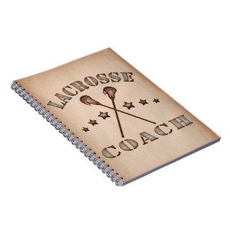 ラクロスのコーチのSteampunkのスタイルのノート ノートブック