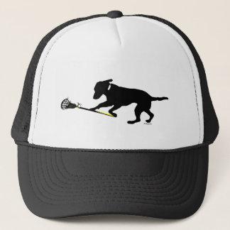 ラクロスのトラック運転手の帽子を遊ぶ黒い実験室 キャップ