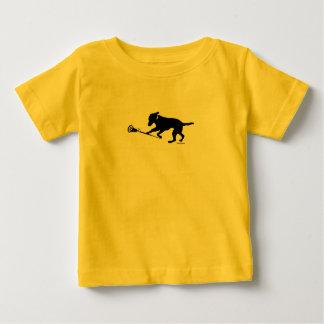 ラクロスのベビーのTシャツを遊ぶ黒い実験室 ベビーTシャツ