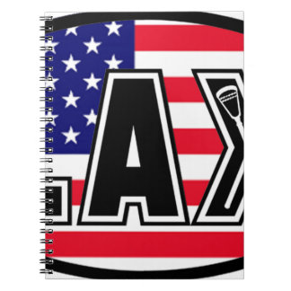ラクロスの旗アメリカ ノートブック