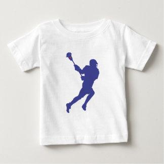 ラクロスの紫系統 ベビーTシャツ