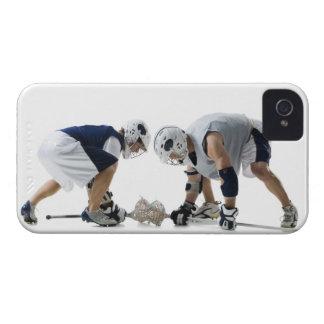 ラクロスを遊んでいる2人の若者のプロフィール Case-Mate iPhone 4 ケース