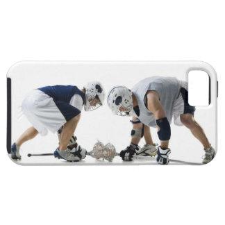 ラクロスを遊んでいる2人の若者のプロフィール iPhone SE/5/5s ケース