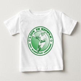 ラクロスを食べて下さい、眠らせて下さい、遊んで下さい ベビーTシャツ