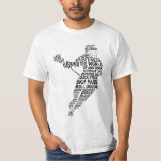 ラクロスプレーヤーのタイポグラフィ Tシャツ