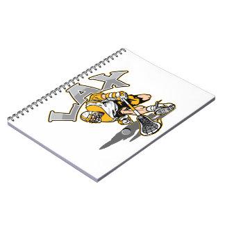 ラクロスプレーヤーの黄色のユニフォーム ノートブック