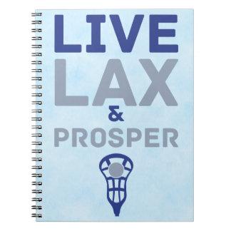 ラクロス生きているLAXは繁栄し、 ノートブック