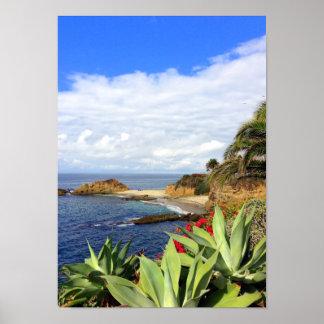 ラグナのビーチのモンタージュのオーシャンビュー ポスター