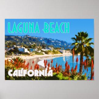 ラグナのビーチのヴィンテージ旅行ポスター ポスター