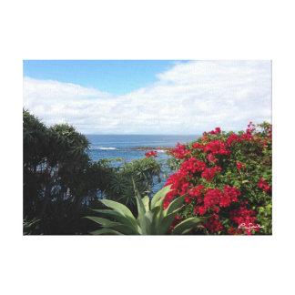ラグナのビーチの花 キャンバスプリント
