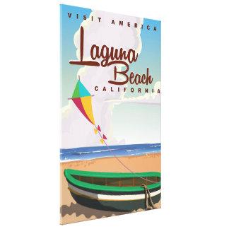 ラグナのビーチカリフォルニアヴィンテージ旅行ポスター キャンバスプリント