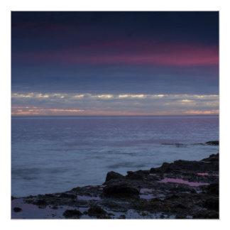 ラグナのビーチカリフォルニア日没の写真ポスター印刷物 ポスター