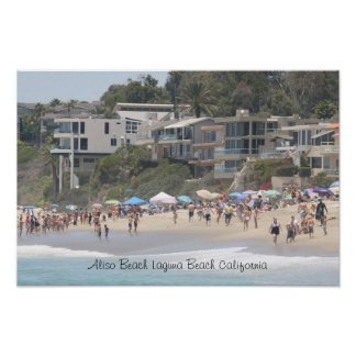 ラグナのビーチカリフォルニア ポスター