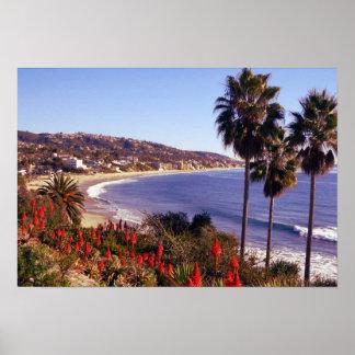 ラグナのビーチカリフォルニア、eff01 ポスター