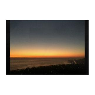 ラグナのビーチ、カリフォルニアの日没のパネル アクリルウォールアート