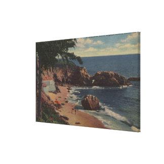 ラグナのビーチ、カリフォルニア-海岸の保護された入江 キャンバスプリント