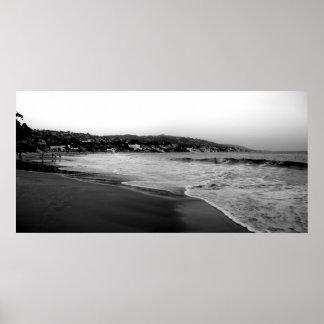 ラグナのビーチB&W ポスター