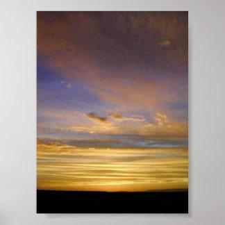 ラグナサンイグナシオの日没 ポスター