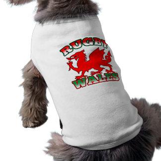ラグビーのウェールズの旗のドラゴン ペット服