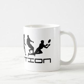 ラグビーのスポーツの進化の芸術 コーヒーマグカップ