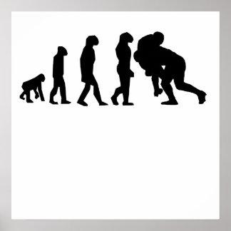 ラグビーのタックルの進化 ポスター
