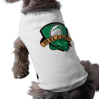 ラグビーのボールのアイルランドの盾のシャムロック ペット服