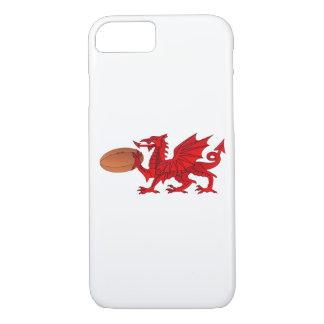 ラグビーのボールのiPhone 7か8のウェールズのドラゴン場合 iPhone 8/7ケース