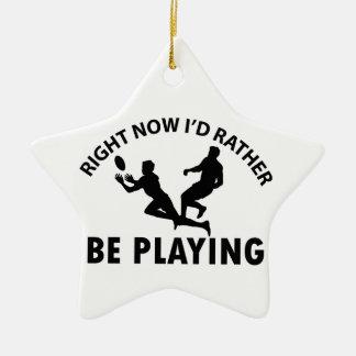 ラグビーを遊ぶこと セラミックオーナメント