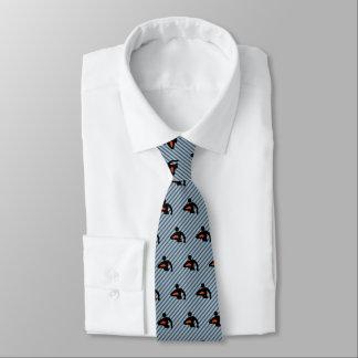 ラグビープレーヤーのシルエット-黒/Stripyのオレンジ オリジナルネクタイ