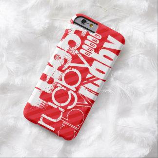 ラグビー; 深紅の赤のストライプ BARELY THERE iPhone 6 ケース