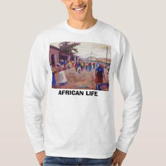 ラゴスのアフリカの生命の村の人々 Tシャツ
