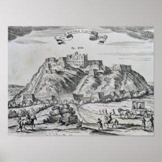 ラサのチベットの首都の眺め ポスター