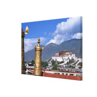 ラサ、から取られるチベットのポタラ宮 キャンバスプリント