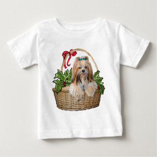 ラサApsoのクリスマス ベビーTシャツ