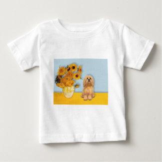 ラサApso 9 -ヒマワリ ベビーTシャツ