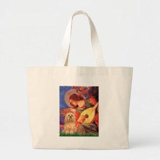 ラサApso 9 -マンドリンの天使 ラージトートバッグ