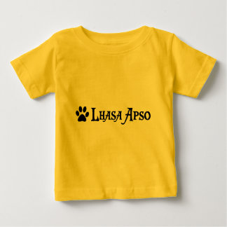 ラサApso (pawprintとの海賊スタイル) ベビーTシャツ